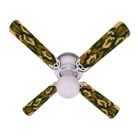 New CAMOFLAUGE CAMO GREEN Ceiling Fan 42""