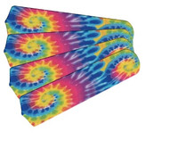 "New PSYCHEDELIC TYE DYE 42"" Ceiling Fan BLADES ONLY"