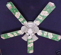 New POKER CARDS CASINO CRAPS BLACK JACK Ceiling Fan 52""