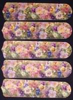 "New PANSY, PENTUNIA FLOWERS 52"" Ceiling Fan BLADES ONLY"