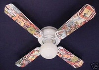 """New NOSTALGIC ROUTE 66 HIGHWAY Ceiling Fan 42"""""""