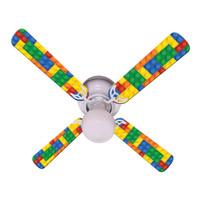 """New LEGOS KIDS LEGO BLOCKS Ceiling Fan 42"""""""