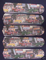 """New HOT ROD CARS DINER 52"""" Ceiling Fan BLADES ONLY"""