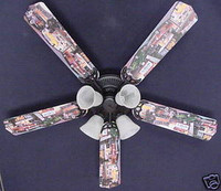 New HOT ROD CARS BURGER DINER Ceiling Fan 52""