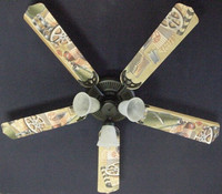 New HOLLYWOOD MOVIE THEATER FILM FEST Ceiling Fan 52""