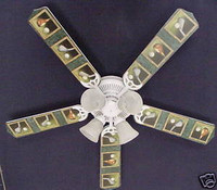 New GOLF CLUBS GOLFERS Ceiling Fan 52""