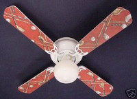 New GOLF CLUBS GOLFERS GOLFING Ceiling Fan 42""