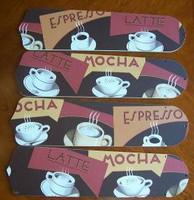 "New COFFEE LATTE ESPRESSO 52"" Ceiling Fan BLADES ONLY"