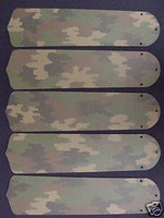 "New CAMOUFLAGE CAMO ARMY 52"" Ceiling Fan BLADES ONLY"