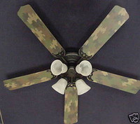 New CAMOFLAUGE CAMO ARMY HUNTERS Ceiling Fan 52""