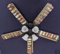 New BEER BOTTLES LAGER ALE BREWERY Ceiling Fan 52""