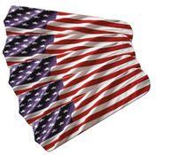 "New AMERICAN FLAG PATRIOTIC 52"" Ceiling Fan BLADES ONLY"