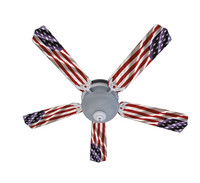 New AMERICAN FLAG PATRIOTIC Ceiling Fan 52""