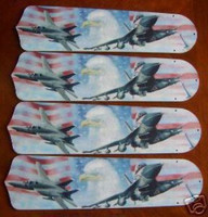 "New AIR FORCE JETS EAGLE 42"" Ceiling Fan BLADES ONLY"