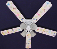 "New PRINCESS PRINCESSES Ceiling Fan 52"" 52FAN-DIS-PPD"