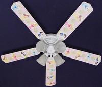 """New PRINCESS PRINCESSES Ceiling Fan 52"""" 52FAN-DIS-PPD"""