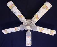 """New CLASSIC WINNIE POOH PIGLET BLUE  Ceiling Fan 52"""""""