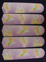 """New TINKERBELL PRINCESS 52"""" Ceiling Fan BLADES ONLY"""