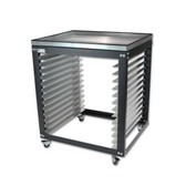 Screen Rack / Shop Cart - Metal Tray Top Option