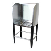 Quick Clean QCX-2432 Econo Washout Booth with Fluorescent Backlight Attachment