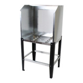 Quick Clean QCX-2432 Econo Washout Booth with Acrylic Back