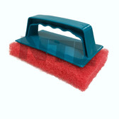 NTL Screen Scrub Brush with Replaceable Pad - Red
