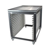 NTL Jumbo Screen Cart / Rack - Metal Top Option