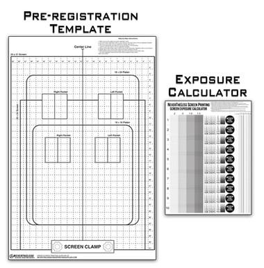NeverTheLess screen printing supplies exposure calculator