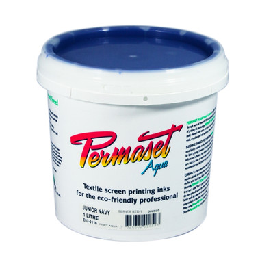 Permaset Aqua Standard Waterbased Ink - Junior Navy