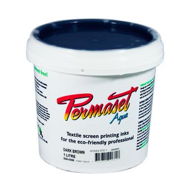Permaset Aqua Standard Waterbased Ink - Dark Brown