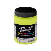 Permaset Aqua Supercover Waterbased Ink - Glow Yellow - 300 mL