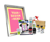DIY Poster Printing Kit with Pre-burned Screen