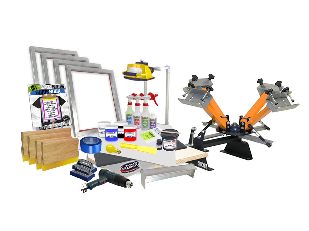 DIY 4 Color Shocker© Start-Up Screen Printing Kit – Burn your own screens