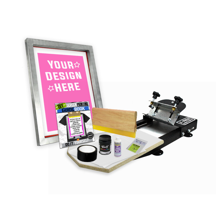 DIY X-Press© Screen Printing Kit with Pre-burned Screen