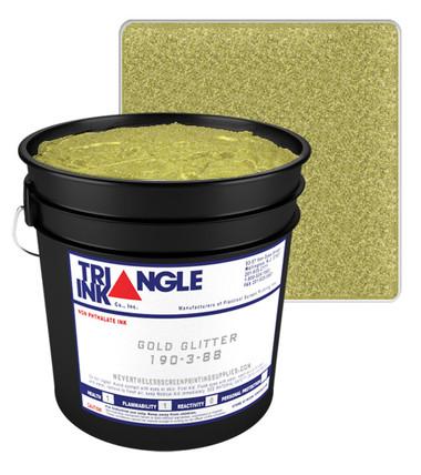 Triangle Plastisol Ink - Gold Glitter 190-3-88