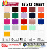 "Siser Easyweed Stretch HTV Heat Transfer Vinyl - 15""x12"" Sheet"