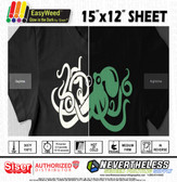 "Siser Glow in the Dark HTV Heat Transfer Vinyl - 15""x12"" Sheet"