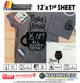 "Siser Blackboard HTV Heat Transfer Vinyl - 12""x1yd Sheet"