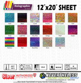 "Siser Holographic HTV Heat Transfer Vinyl - 12""x20"" Sheet"