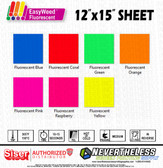 "Siser Fluorescent HTV Heat Transfer Vinyl - 12x15"" Sheet"