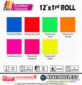 Siser Fluorescent HTV Heat Transfer Vinyl - 12x1yd Roll