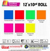 """Siser Fluorescent HTV Heat Transfer Vinyl - 12""""x10yd"""