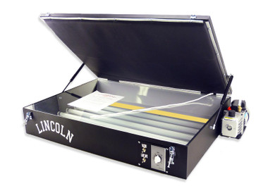 Lincoln Vacuum Exposure Unit - shown with optional light safe bulbs