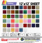 """Siser Glitter HTV Heat Transfer Vinyl - 12""""x12"""" Sheet"""