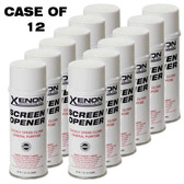 Xenon Screen Opener Ink Remover Case - 12 Cans