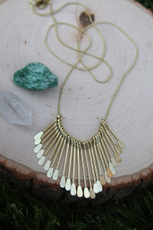 Golden Sunshine Paddle Necklace