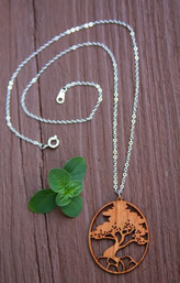 African Acacia Wooden Necklace