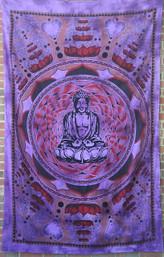 Buddha, Love & Lotus Mandala Tapestry