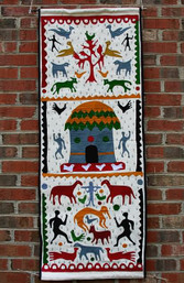 Tribal Village Fair Trade Wall Hanging