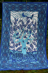 Tree of Life Tapestry - Cool - XLarge
